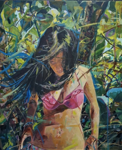 El bikini Rosa|PinturadeAmaya Fernández Fariza| Compra arte en Flecha.es