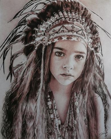 India|DibujodeLali Casillas Salcedo| Compra arte en Flecha.es