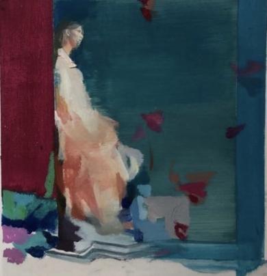 Estudio de figura en azul|CollagedeAna Alcaraz| Compra arte en Flecha.es