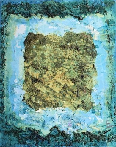 Cuadrado matérico|PinturadeEnric Correa| Compra arte en Flecha.es