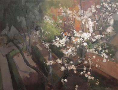 Albaricoquero|PinturadeMarta Cuezva Porras| Compra arte en Flecha.es