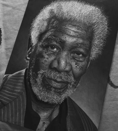 Morgan Freeman|DibujodeFabriizzzio| Compra arte en Flecha.es