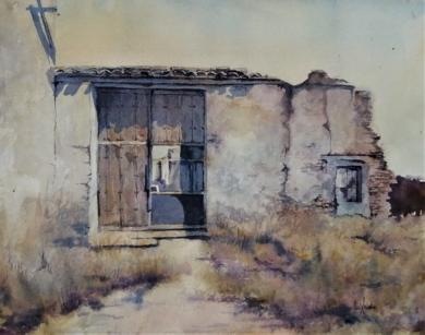 El portón|PinturadeLuis Imedio| Compra arte en Flecha.es