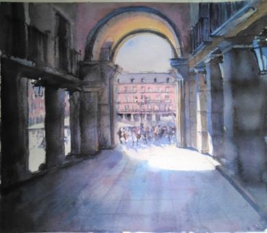 Plaza Mayor|PinturadeLuis Imedio| Compra arte en Flecha.es