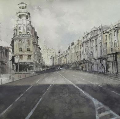 Gran Vía|PinturadeLuis Imedio| Compra arte en Flecha.es