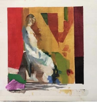 Figura en rojos|PinturadeAna Alcaraz| Compra arte en Flecha.es