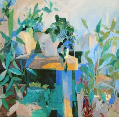 La terraza|PinturadeCarolina Veramendi B| Compra arte en Flecha.es