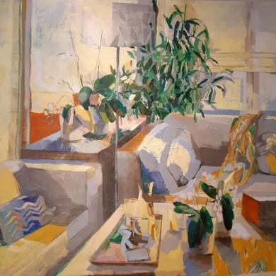 El salón II|PinturadeCarolina Veramendi B| Compra arte en Flecha.es