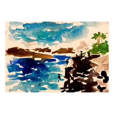 Voltereta y caída libre|PinturadeSofía Mestre| Compra arte en Flecha.es