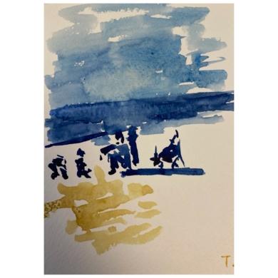 ¿Esperando el fin?|PinturadeSofía Mestre| Compra arte en Flecha.es
