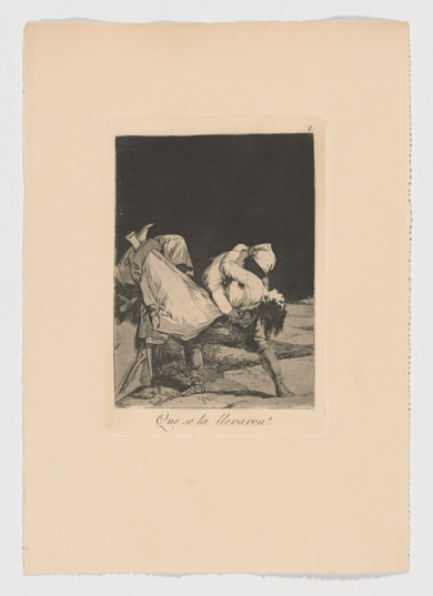 Caprichos. Que se la llevaron (Estampa 8)|Obra gráficadeFrancisco de Goya y Lucientes| Compra arte en Flecha.es