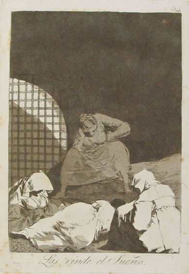Caprichos. Las rinde el sueño (Estampa 34)|Obra gráficadeFrancisco de Goya y Lucientes| Compra arte en Flecha.es
