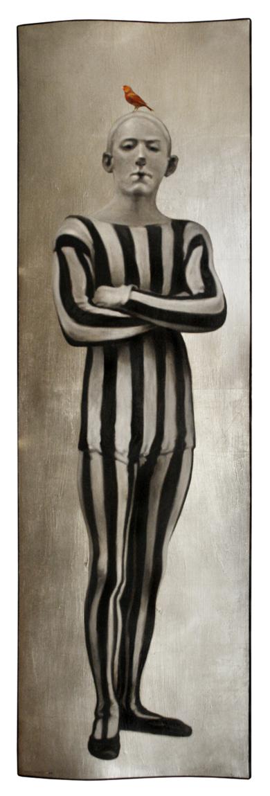Arlequín  with white face|PinturadeEnrique González| Compra arte en Flecha.es