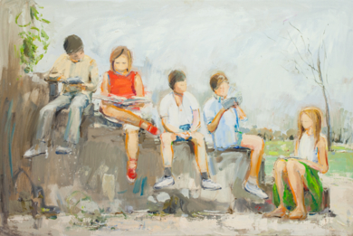 Reading|PinturadeSusana Sancho| Compra arte en Flecha.es