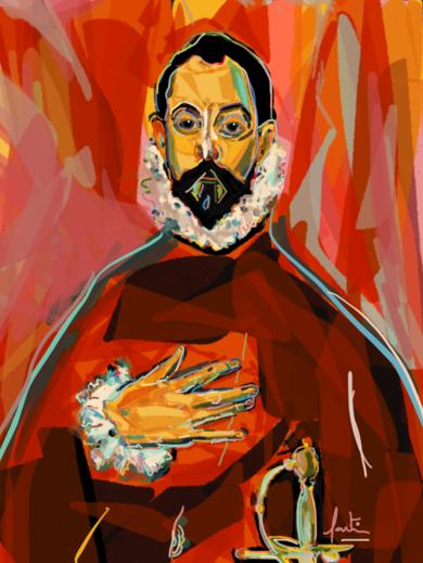 El Caballero de la Mano en el Pecho|DigitaldeSantiago Esteban Glez| Compra arte en Flecha.es