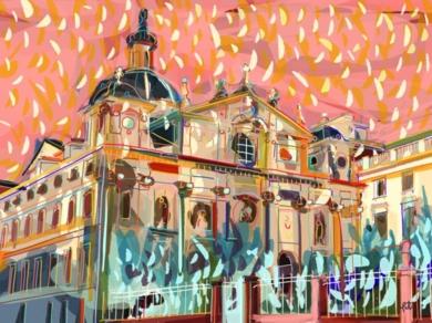 Parroquia de Santa Bárbara en Madrid|DigitaldeSantiago Esteban Glez| Compra arte en Flecha.es