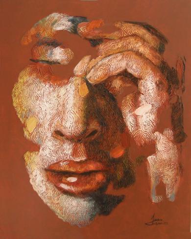 PERSONAJE, (SERIE GEOGRAFÍA HUMANA)|PinturadeJuan Chamizo| Compra arte en Flecha.es