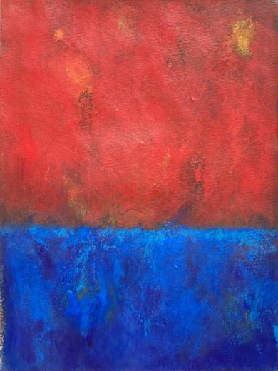 Red on the sky PinturadeLuis Medina  Compra arte en Flecha.es