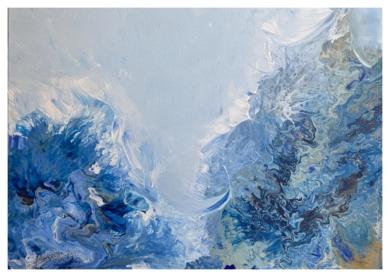 BluAbst1|PinturadeFederica| Compra arte en Flecha.es
