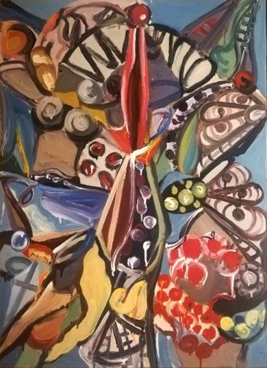 LA SERPIENTE EN EL JARDÍN|PinturadeEnrique Porta| Compra arte en Flecha.es