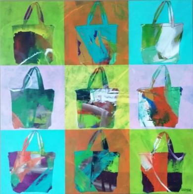 Bags 3|PinturadeFrancisco Santos| Compra arte en Flecha.es
