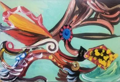 LEVIATANCITO|PinturadeEnrique Porta| Compra arte en Flecha.es