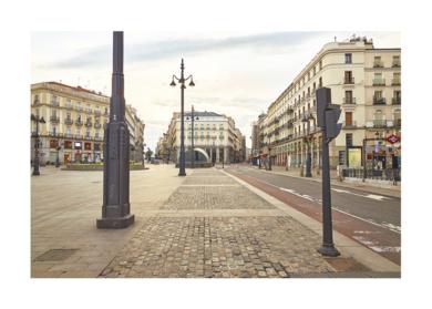 Insólita estampa del corazón de Madrid por la pandemia de la COVID-19|DigitaldeIván Abanades Medina| Compra arte en Flecha.es