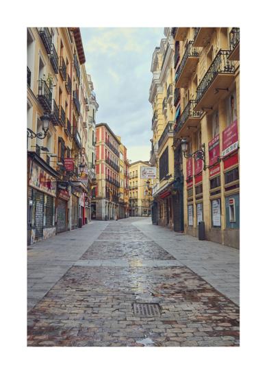 Calle de Esparteros - Mas sola que nunca debido a la pandemia de la COVID-19|DigitaldeIván Abanades Medina| Compra arte en Flecha.es