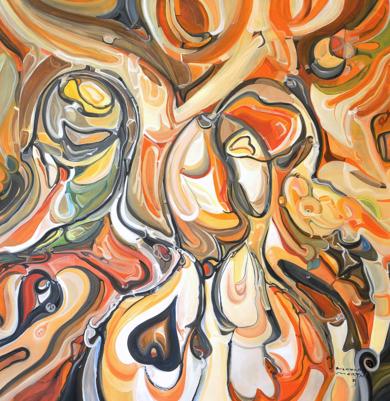 © El beso de la reconciliación - curvisme 409|PinturadeRICHARD MARTIN| Compra arte en Flecha.es
