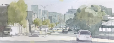 Atardecer|PinturadeIñigo Lizarraga| Compra arte en Flecha.es