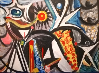 ZORRITA PLATEADA|PinturadeEnrique Porta| Compra arte en Flecha.es