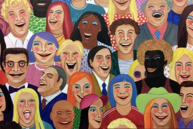 Love to laugh|PinturadeMaría Burgaz| Compra arte en Flecha.es
