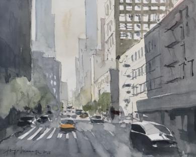 Tráfico|PinturadeIñigo Lizarraga| Compra arte en Flecha.es