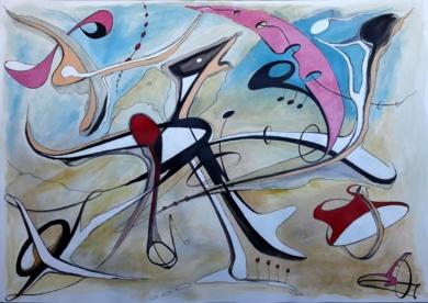 BIRD ON THE WIRE|PinturadeValeriano Cortázar| Compra arte en Flecha.es