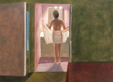 Interior: Woman with towel|DibujodeSusana Mata| Compra arte en Flecha.es