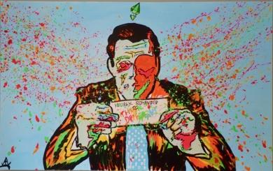 The Sim: Wolf_of_wall_street|PinturadeAlvaro Linares Cuadrado| Compra arte en Flecha.es