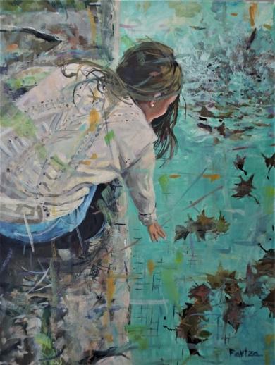 La piscina en otoño|PinturadeAmaya Fernández Fariza| Compra arte en Flecha.es