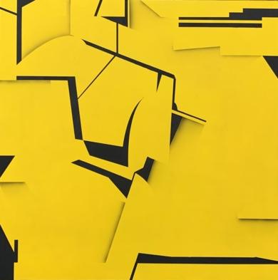 Black on yellow|PinturadeJesús Zuazo| Compra arte en Flecha.es