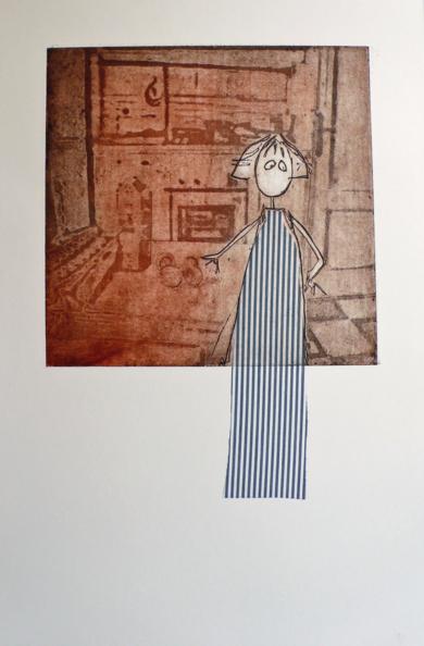 UN DELANTAL DEMASIADO LARGO|Obra gráficadeAna Valenciano| Compra arte en Flecha.es