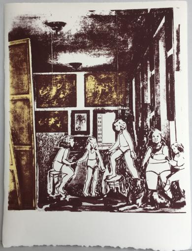 Un rato antes de llegar Velázquez . Versión en serigrafía|Obra gráficadeAna Valenciano| Compra arte en Flecha.es