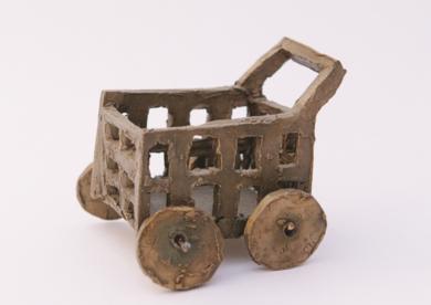 El carrito del súper.  SERIE PARQUE MÓVIL:JUGUETES PARA ADULTOS|EsculturadeAna Valenciano| Compra arte en Flecha.es
