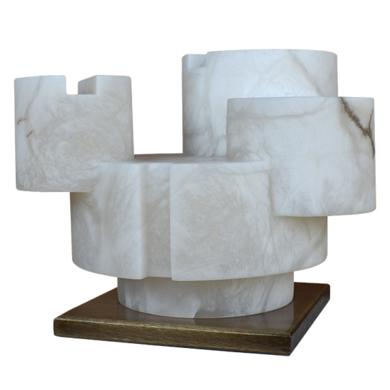 Composición cilíndrica y linea VI|EsculturadeBorja Barrajón| Compra arte en Flecha.es