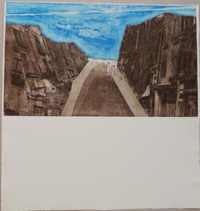 La estela del avión|Obra gráficadeAna Valenciano| Compra arte en Flecha.es