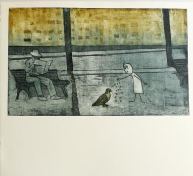 Come, gorrión, le dijo a la paloma|Obra gráficadeAna Valenciano| Compra arte en Flecha.es
