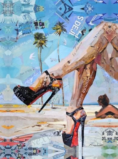 High heels. Beach|CollagedeAmador Sevilla| Compra arte en Flecha.es