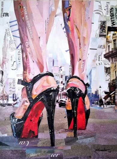 High heels. City CollagedeAmador Sevilla  Compra arte en Flecha.es