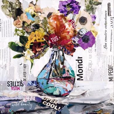 Flores|CollagedeAmador Sevilla| Compra arte en Flecha.es