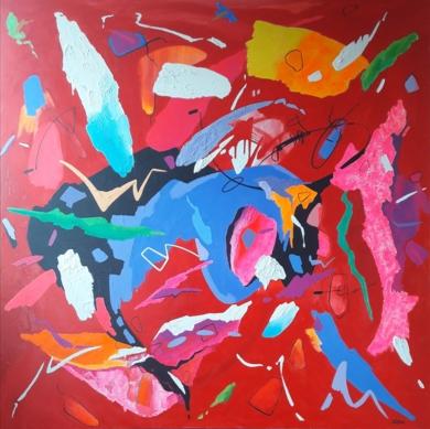 La vie en rose - Édith Piaf|PinturadeValeriano Cortázar| Compra arte en Flecha.es