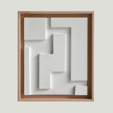 Blanco sobre Blanco_01|Escultura de pareddeCandela Muniozguren| Compra arte en Flecha.es