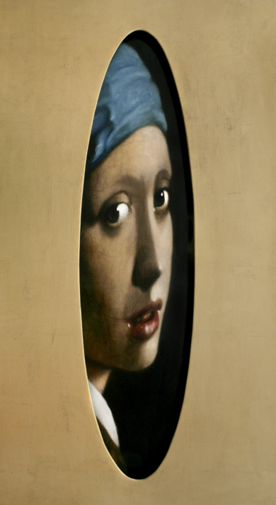 Dama de Vermeer oculta|PinturadeEnrique González| Compra arte en Flecha.es
